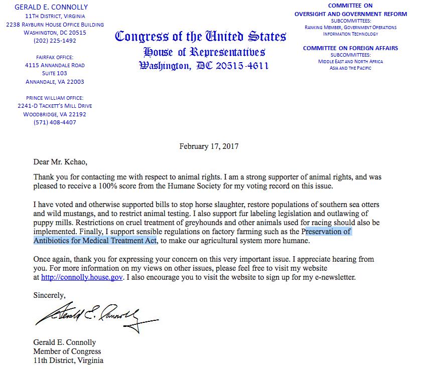 Congressman Connolly Hears the Call!!